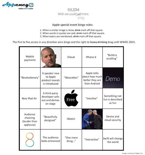 Where Can You Get An Apple Gift Card - get your apple keynote bingo cards cult of mac
