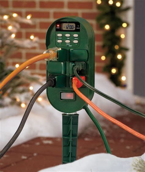 setting christmas lights on a timer digital multi function outdoor timer for lights decorations ebay