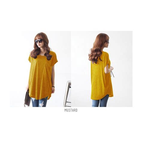 Umbrella Tunik Pakaian Wanita Baju Atasan Jumbo Blouse Tunik Promo korean style big pocket soft spandex