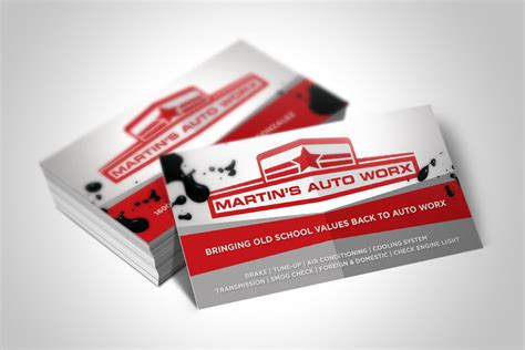 Mechanic Business Card Template by Mechanic Business Cards Entry 41 Mahmudkhan44 For Design
