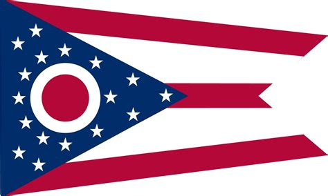 state of ohio ohio state flag coloring pages usa for