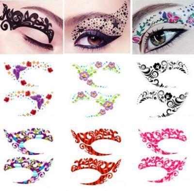 flower pattern in eyes 0 69 1 pair fashion flower design temporary eyeliner