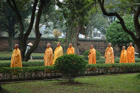 buddhist themes in literature monks at temple of literature hanoi a photo from ha noi