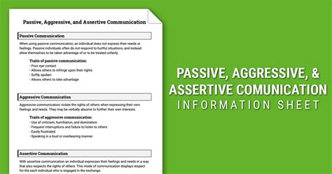 Assertive Communication Worksheet by 28 Assertive Communication Worksheet Passive