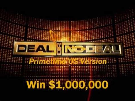 Win 1 Million Dollars Instantly - deal or no deal cues win 1 000 000 youtube
