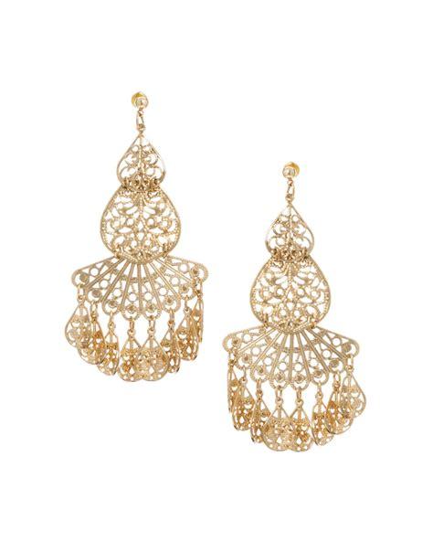 filigree jewelry asos filigree earrings in gold lyst