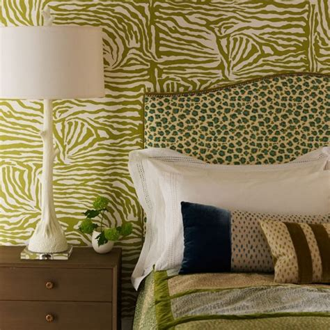 Home Decorating Ideas Zebra Print Animal Print Bedroom In Shades Of Green Decorating With