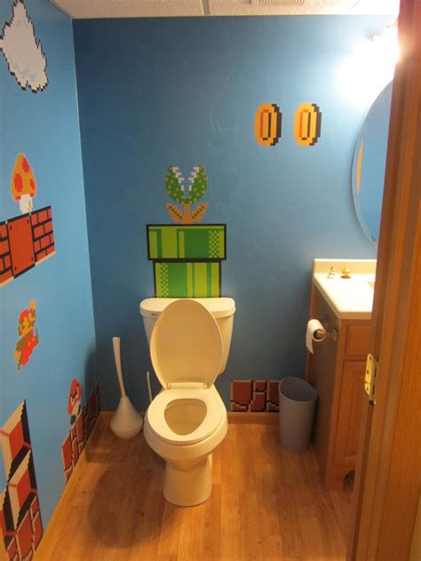 mario bros bathroom nerdy new bathroom