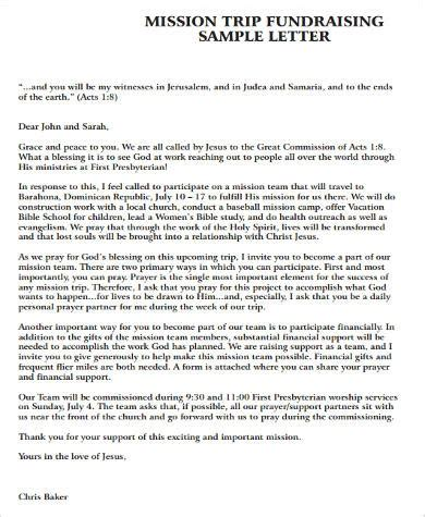 Mission Trip Letter Template Best Template Collection Mission Trip Support Letter Template