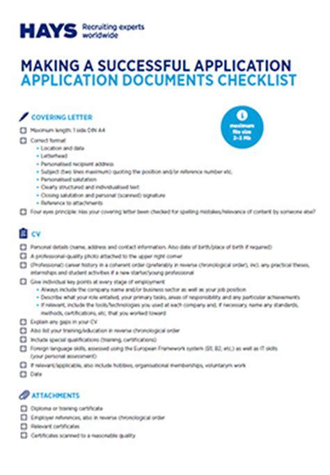 Cv Template Hays Lebenslauf Vorlage Checkliste Vorstellungsgespr 228 Ch Hays