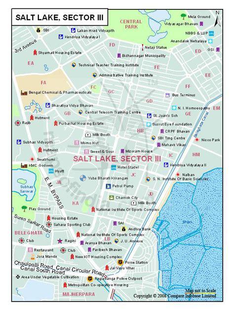 Mba Colleges In Salt Lake Kolkata by Salt Lake Sector Iii Map Kolkata Maps Of India
