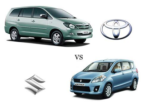 Maruti Suzuki Ertiga Diesel Price Maruti Ertiga V S Toyota Innova 2 5 Diesel Ms 7 Seater