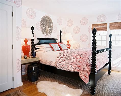 Eclectic Bedroom Design Bold Black And White Bedrooms With Bright Pops Of Color