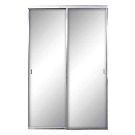 70 Inch Closet Doors Contractors Wardrobe 60 In X 81 In Asprey Bright Clear Mirror Aluminum Framed Interior Sliding