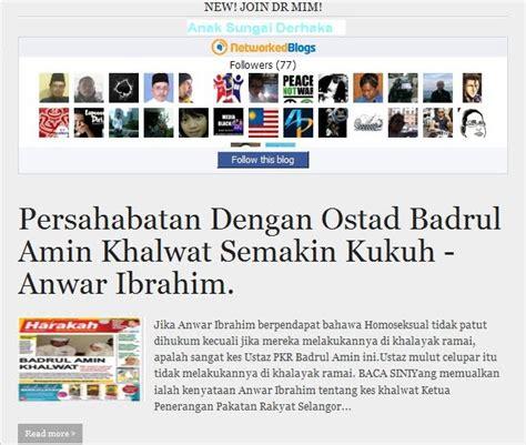 blogger umno anak sungai derhaka ustaz badrulamin tidak ditangkap