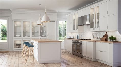 encimeras para cocinas blancas cocinas blancas modernas con detalles en madera