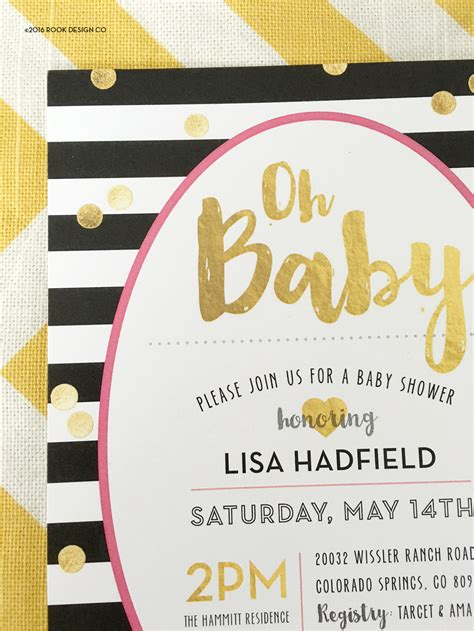 kate spade baby shower invitations rook design co