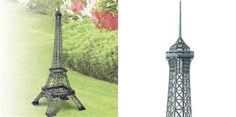 Home Decor Metal Wall Art by Backyard Eiffel Tower The Green Head