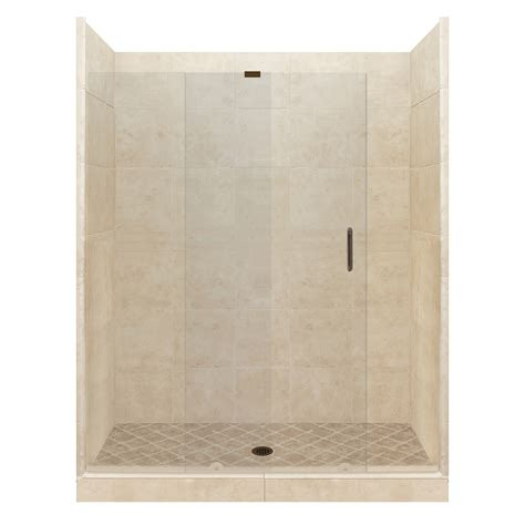 bathroom tile kits shop american bath factory sonoma medium solid surface