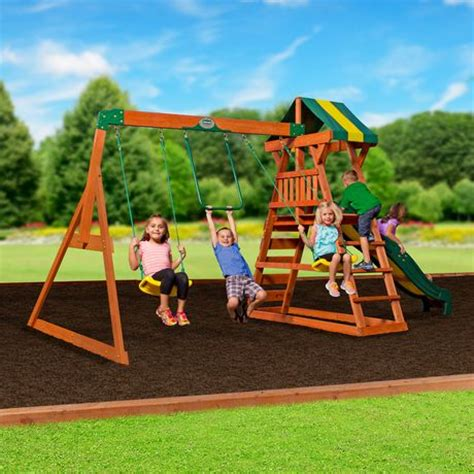 walmart playsets for backyard backyard discovery madison swing set 1605015 walmart ca