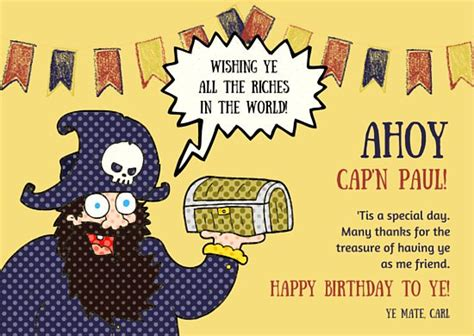 Pirate Birthday Card Template by Greeting Card Templates Canva