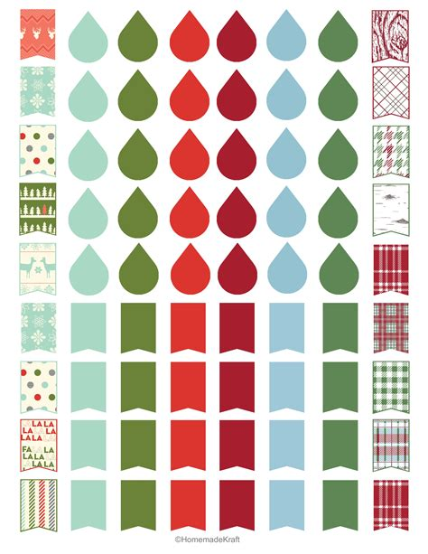 printable christmas planner stickers 8 best images of free printable holiday planner stickers