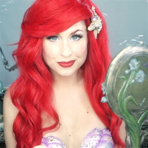 makeup tutorial little mermaid how to apply fake eye lashes popsugar beauty