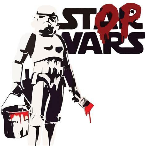 wars wall stickers banksy stop wars wall sticker canvas rocks