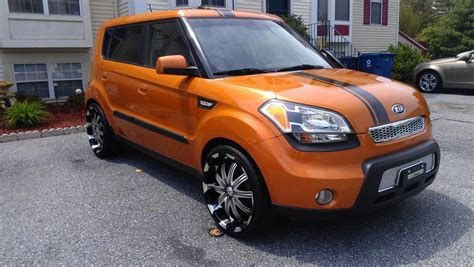 Kia Soul Paint Kia Soul Ignition On 20 Inch Verde Avatar Rims