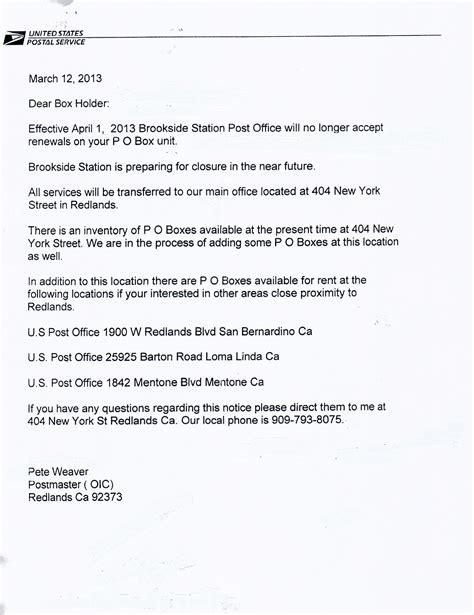 Closing Notice Letter 100 usps zone map yorba postal zone shipping