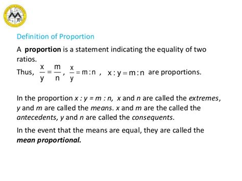 design definition of proportion mit math syllabus 10 3 lesson 9 ratio proportion and