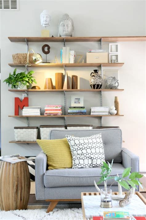 Livingroom Shelves | a light for the living room shelves house tweaking