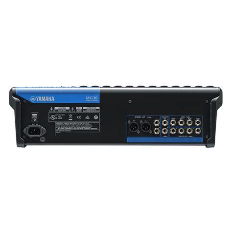 yamaha console yamaha mg20 analog mixing console at gear4music