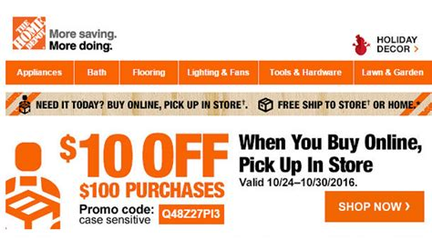 home depot promo codes 10 car wash voucher