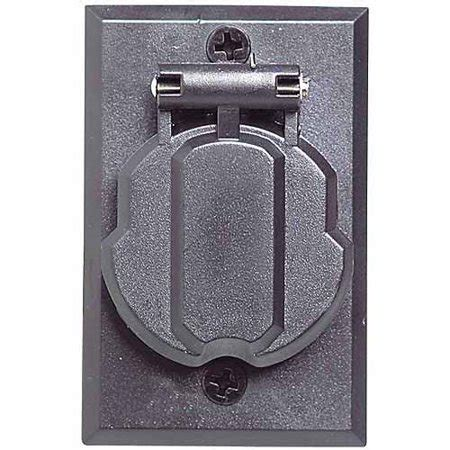 design house 502112 replacement electrical outlet for outdoor l post black finish walmart