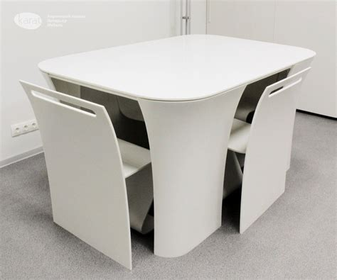 Modern And Contemporary Table With Hidden Chairs Table 2