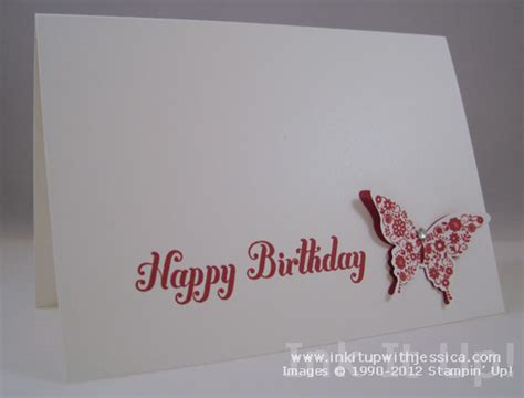 make happy birthday cards butterfly birthday card ink it up with