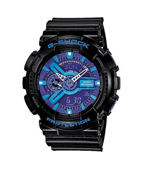 Casio Gshock Gma 110 Fblue Flower Edition g shock ga110 hc 1a hyper color black blue purple limited edition zumiez