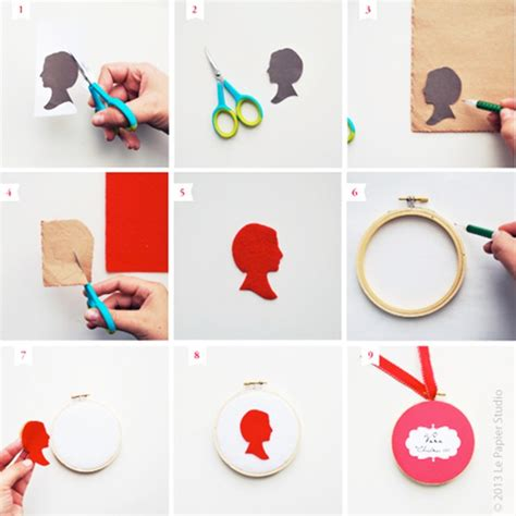 Handmade Craft Tutorials - handmade silhouette ornaments tutorial le papier studio
