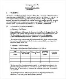 emergency protocol template emergency plan template 8 free sle exle