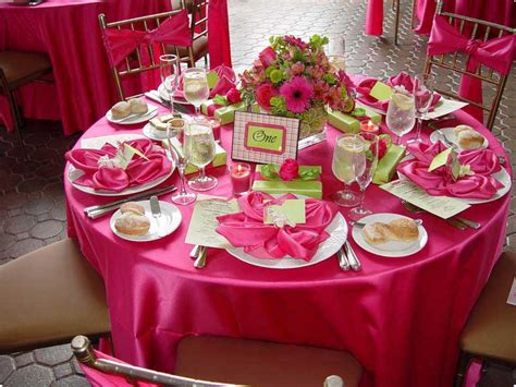 fuschia wedding decorations romantic decoration
