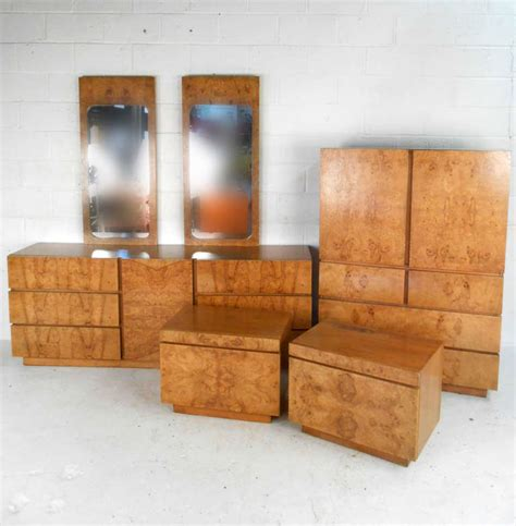 lane bedroom furniture stunning mid century burlwood bedroom set by lane