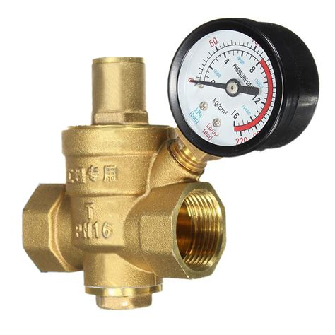 aliexpress reliable reliable brass water pressure regulator with gauge flow