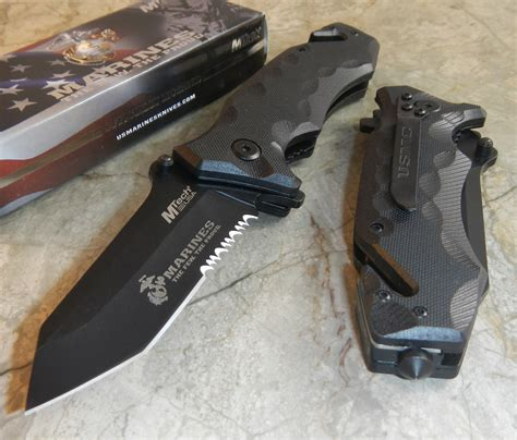tanto rescue knife usmc marines assisted open black g10 tactical tanto
