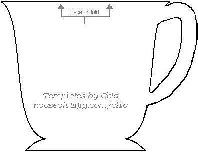 teacup template for card 49 best images about