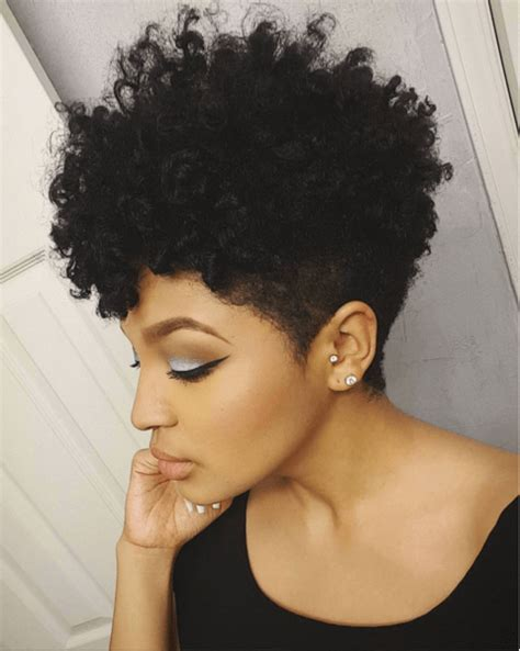 styles for black women with a taper and line tapered cut twist curl short natural hair natural and