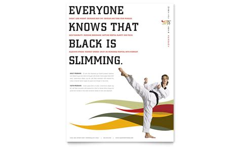 karate martial arts flyer template word publisher