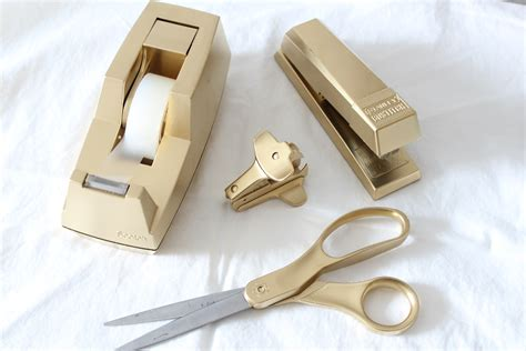 target knockoff gold desk accessories simple stylings