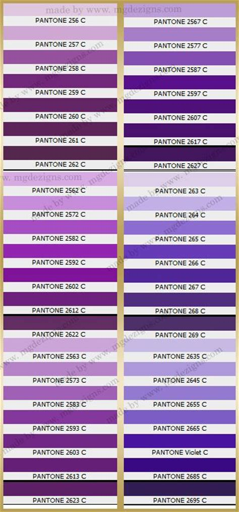 shades of purple chart pinterest the world s catalog of ideas