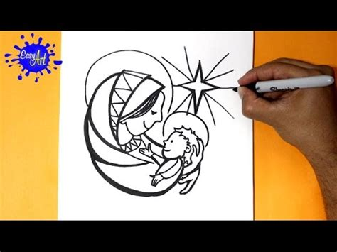 imagenes de la virgen faciles para dibujar como dibujar la virgen maria how to draw the virgin mary